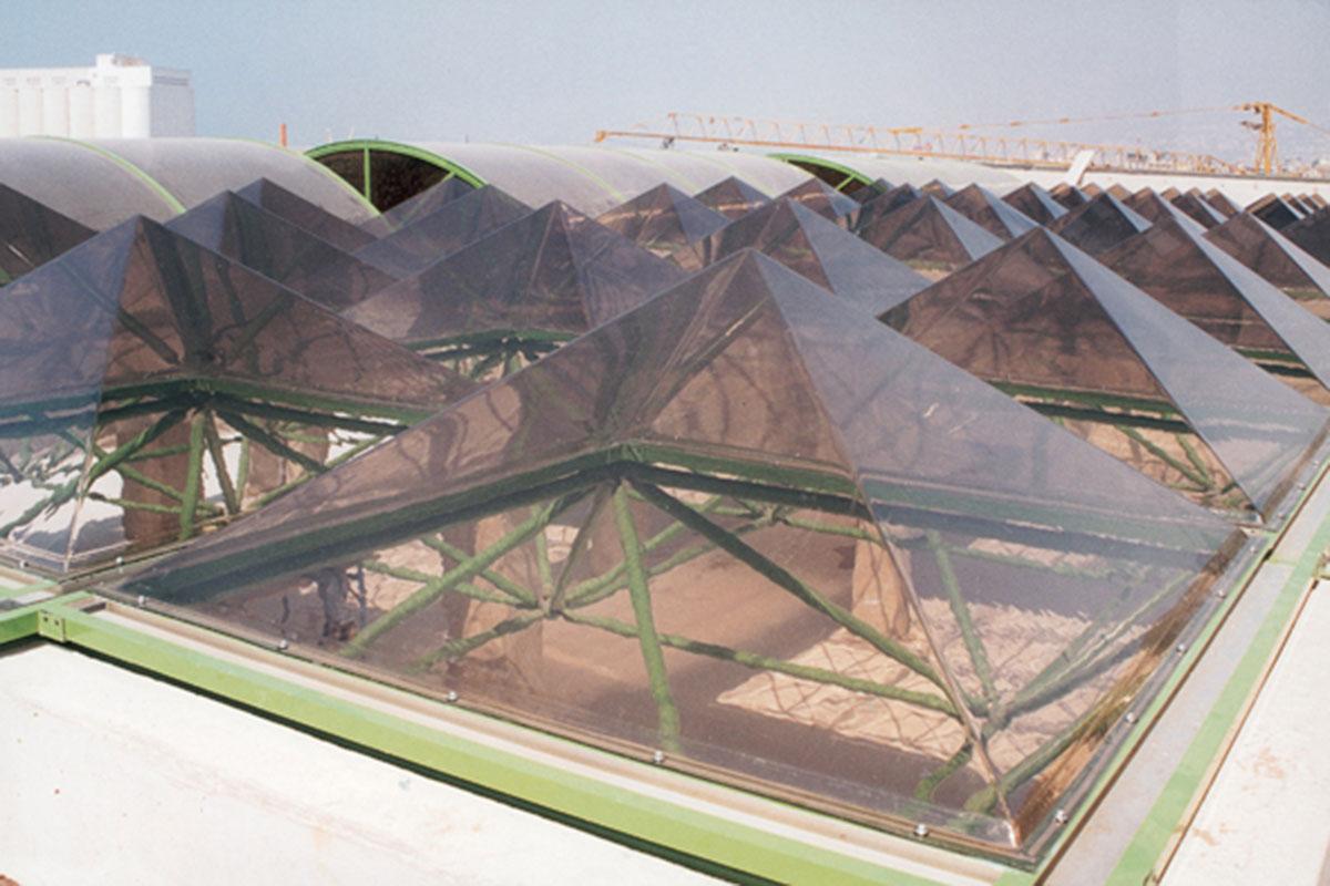 Lichtkuppel Pyramide